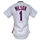 1988 Mookie Wilson NY Mets Game-Used & Autographed Home Jersey (JSA)