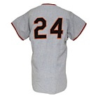 1964 Willie Mays San Francisco Giants Game-Used & Autographed Road Jersey (JSA)