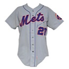 1972 Tommie Agee NY Mets Game-Used & Autographed Road Jersey (JSA)