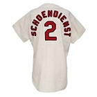 1968 Red Schoendienst St. Louis Cardinals Managers Worn & Autographed Home Flannel Jersey (JSA)(World Series Year)