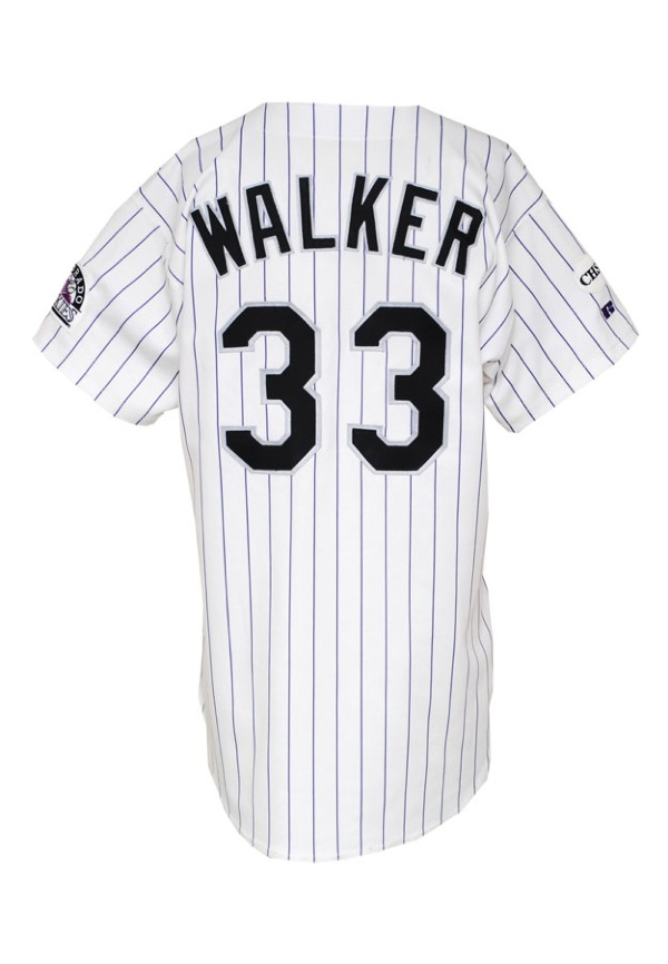 4ab414aa7 Lot Detail - 1999 Larry Walker Colorado Rockies Game-Used Home ...