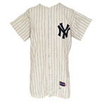 1968 Steve Hamilton New York Yankees Game-Used Home Flannel Jersey