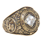 1958 New York Yankees World Series Championship Ladies Ring Made for Bob Turleys Wife (Turley Family Provenance)
