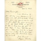 "Rogers Hornsby (CH) & Other Letters Presented To ""Little"" Johnny Sylvester (6)(Sylvester Family LOA)"