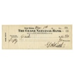 Exceptional 1945 Babe Ruth Double-Signed Personal Check ($50 Cash • Full JSA)