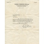 "6/1/1942 Babe Ruth TLS with Original Envelope (2)(Full JSA LOA • ""The Pride of the Yankees"" Content)"