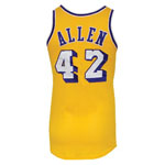 Circa 1976 Lucius Allen Los Angeles Lakers Game-Used Home Uniform (2)(BBHoF LOA)
