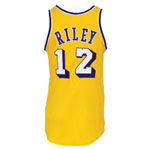 Early 1970s Pat Riley Los Angeles Lakers Game-Used Home Jersey (BBHoF LOA)