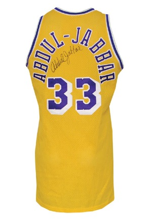 d08916fe0 Lot Detail - 1987-88 Kareem Abdul-Jabbar Los Angeles Lakers Game ...