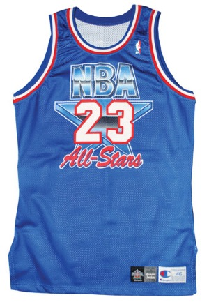 huge discount 51e73 6072d Lot Detail - 1993 Michael Jordan NBA All-Star Pro-Cut Jersey ...