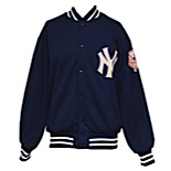 Late 1970s New York Yankees Coaches Worn Bench Jacket Attributed to Yogi Berra
