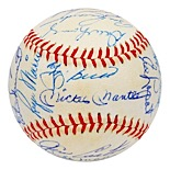 1960 New York Yankees Team Signed Baseball with Mantle, Maris & Stengel (Full JSA • PSA/DNA)