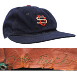 1934 Babe Ruth Tour of Japan Game-Used Cap (Only Known Example • Sourced From The Ruth Family 30+ Years Ago)