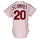 1981 Mike Schmidt Philadelphia Phillies Game-Used & Autographed Home Jersey (JSA • Photomatch • NL MVP Season • Fantastic Example)
