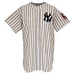 10/5/1939 Monte Pearson New York Yankees World Series Game-Used Home Flannel Jersey (Photomatch • WS Complete Game Shutout • Championship Season)