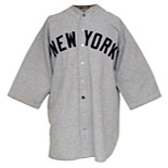 Early 1930s Joe Glenn New York Yankees Game-Used Road Flannel Uniform (2)
