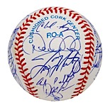 1996 New York Yankees Team Signed Baseball (JSA • Championship Season • Jeter Rookie)
