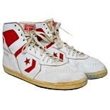 1987-88 Bernard King Washington Bullets Game-Used Sneakers (Ball Boy LOA)