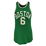 "Early 1960s Bill Russell Boston Celtics Game-Used Road ""BOSTON"" Durene Jersey (Exceedingly Rare • Fantastic Example)"