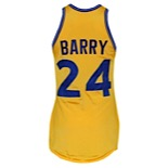 1972-73 Rick Barry Golden State Warriors Game-Used Home Durene Jersey
