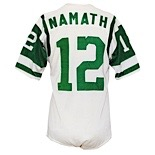 Circa 1966 Joe Namath AFL Rookie Era New York Jets Game-Used Road Durene Jersey (Rare Early Example • Great Source)