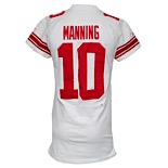10/4/2009 Eli Manning New York Giants Game-Used Road Jersey (Photomatch • Unwashed • BCA Month)