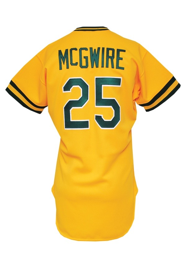 low priced 09dd6 43925 Lot Detail - 1986 Mark McGwire Rookie Debut Oakland ...