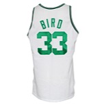 1991-92 Larry Bird Boston Celtics Game-Used & Autographed Home Jersey (JSA)