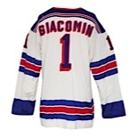 Early 1970s Eddie Giacomin New York Rangers Game-Used Road Durene Jersey (Rare)