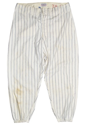 1959 New York Yankees Game-Used Home Pinstripe Flannel Pants