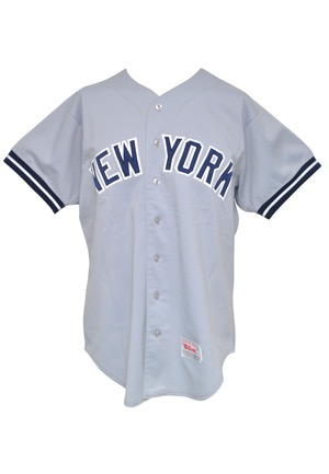 1988 Gary Ward New York Yankees Game-Used Road Jersey (Yankees-Steiner LOA • Graded A9)