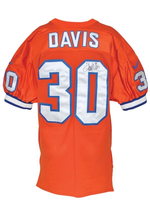 super popular 2002e ba093 Lot Detail - 1996 Terrell Davis Denver Broncos Game-Used ...