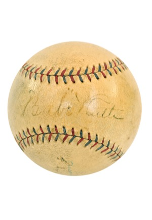 "1927 Babe Ruth & Lou Gehrig Dual Autographed Official American League Baseball (Full JSA • Dated ""9/30/27"" The Day of Ruths 60th HR Of The Season • Halper/Sothebys Collection)"