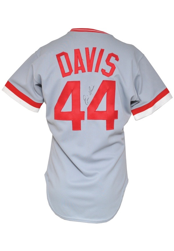 huge discount 2f92e 9e206 Lot Detail - 1987 Eric Davis Cincinnati Reds Game-Used ...