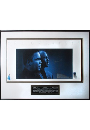 "Framed Muhammad Ali & Michael Jordan Autographed ""The Greatest"" Limited Edition Lithograph (JSA • UDA)"