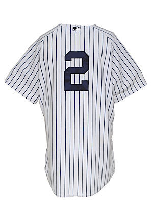 2012 Derek Jeter New York Yankees Game-Used Home Jersey (MLB Hologram • Steiner Sports Hologram • Photo-Matched to Red Sox Homestand 10/1-10/3)