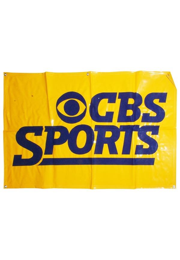 Lot Detail Cbs Sports Vinyl Banner
