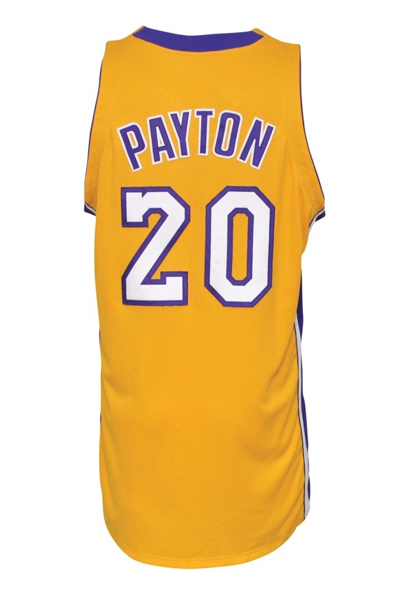 Lot Detail - 2003-04 Gary Payton Los Angeles Lakers Game-Used Home ...