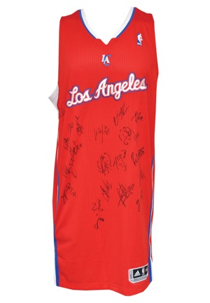 2012 Los Angeles Clippers Team Signed Practice Jersey (JSA)