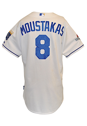 2015 Mike Moustakas Kansas City Royals MLB Playoffs Game-Used Home Jersey (MLB Hologram • ALCS Games 1, 2 & 6 • Championship Season • Unwashed)