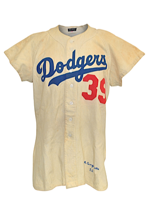 1952 Roy Campanella Brooklyn Dodgers Game-Used Home Flannel Jersey (World Series Season • Magnificent All-Original Condition)