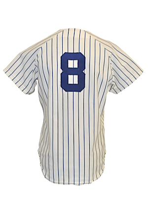 1980 Yogi Berra New York Yankees Coaches-Worn & Autographed Home Pinstripe Jersey (JSA)