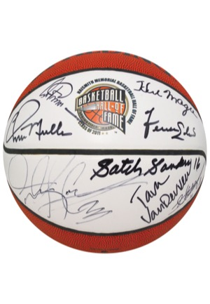 Naismith Memorial Basketball Hall of Fame Class of 2011 Multi-Signed Basketball (JSA)