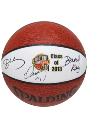 Naismith Memorial Basketball Hall of Fame Class of 2013 Multi-Signed Basketball (JSA • BBHoF LOA)