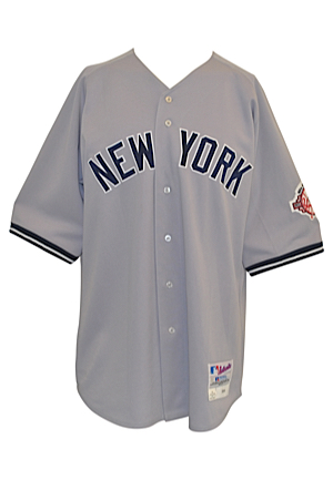 2003 Bernie Williams New York Yankees Game-Issued Road Jersey (Yankees Steiner LOA)