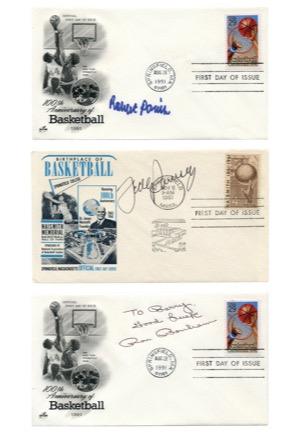 Autographed Cuts & First Day Covers Basketball Collection (46)(JSA)