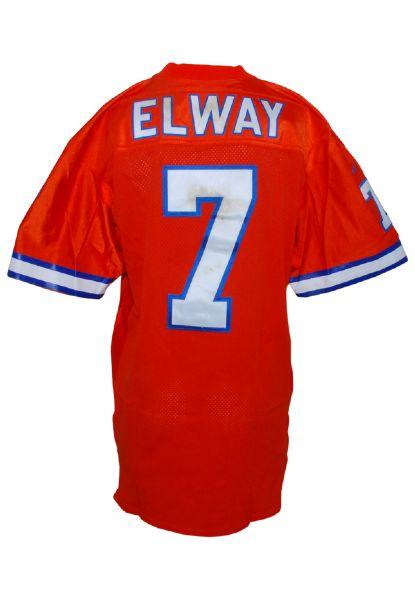 Lot Detail 1996 John Elway Denver Broncos Game Used Home Jersey