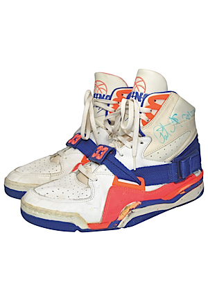 Patrick Ewing New York Knicks Game-Used & Autographed Sneakers (JSA • Photographer LOA)