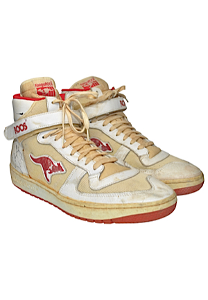 Clyde Drexler Game-Used & Autographed Sneakers (JSA)