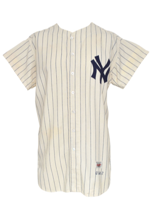 1961 Bob Hale New York Yankees Game-Used Home Flannel Jersey (Championship Season • Likely Worn In The World Series)